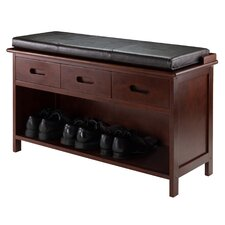 Adriana Wood Storage Entryway Bench by Luxury Home