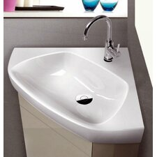 "Arda Ceramic 25.3"" Wall Mounted Bathroom Sink"
