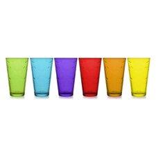 6-tlg. 320ml Gläser-Set Spring Colours
