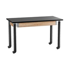Adjustable Height Science Lab Table with Casters