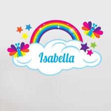 Rainbow with Custom Name Wall Decal