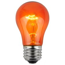 15W Amber130-Volt Light Bulb (Pack of 25)
