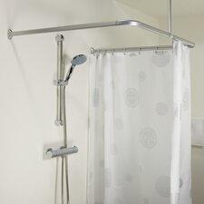 Easy Roll 90cm U-Shaped Fixed Shower Curtain Rail