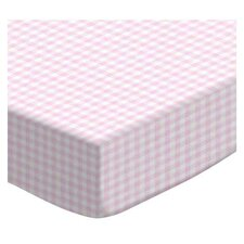 Gingham Jersey Knit Fitted Cradle Sheet