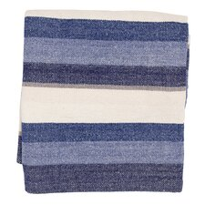 Montego Stripe Chenille Cotton Throw Blanket