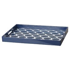 quick view moroccan trelli rectangular serving tray - Decorative Serving Trays