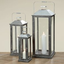 Castell 3 Piece Wooden Lantern Set