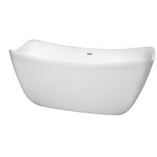 Donna 67 x 30 Soaking Bathtub by Wyndham Collection