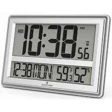 Jumbo Atomic Wall Clock with Table Stand - Batteries Included