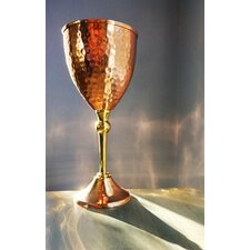 Hammered Copper Wine Glass
