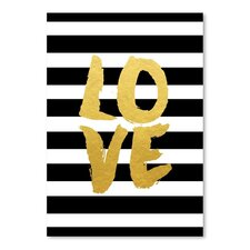 Love Gold Brush Script Graphic Art  by Americanflat