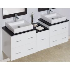 62 Double Modern Wall Mount Bathroom Vanity Set by American Imaginations