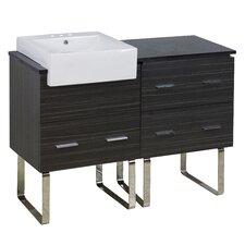 Mulberry Floor Mount 48 Single Bathroom Rectangular Plywood Vanity Set with Ceramic Top by Orren Ellis