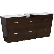 75.5 Double Modern Bathroom Vanity Set by American Imaginations