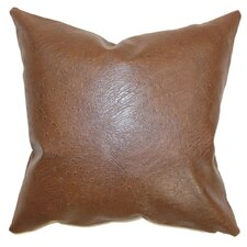 Airlie Faux Leather Throw Pillow Cover