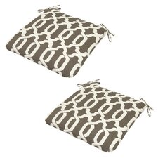 Shirley 2 Piece Outdoor Fabric Dining Chair Cushion (Set of 2)
