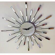 "20"" Bursting Modern Mirror Clock"