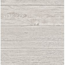 "Boards Ship-lap 2' x 20.5"" White Washed Wood Wallpaper Roll"