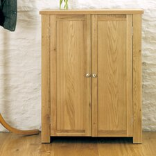 Aston Oak 15 Pair Shoe Storage Cabinet