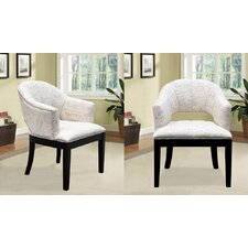 French Print Living Room Barrel Chair (Set of 2) by BestMasterFurniture