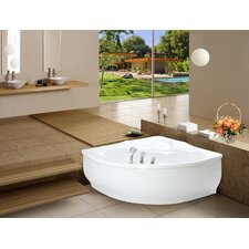 PureScape 314 Corner Acrylic Bathtub by Aquatica