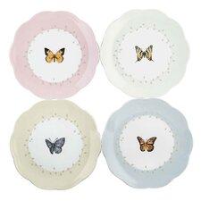 """4 Piece Butterfly Meadow 8"""" Dessert Plate"""