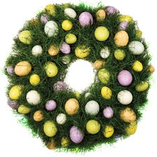 "16"" Faux Egg Wreath"