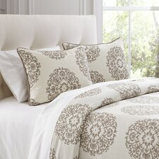 Carol Beige Duvet Cover Set