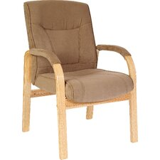 Guildford Suede Effect Visitor Armchair in Cappucino