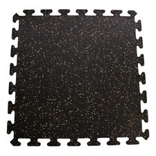 Interlocking Floor Recycled Rubber Tiles
