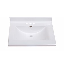 "Center Wave Bowl 25"" Single Bathroom Vanity Top"