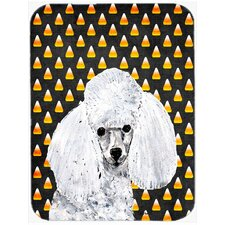 Halloween Candy Corn Toy Poodle Glass Cutting Board