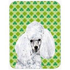 Shamrock Lucky Irish Toy Poodle St. Patrick's Day Glass Cutting Board