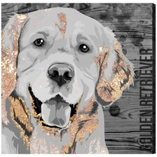 Love Golden Retriever' Graphic Art on Wrapped Canvas by Brayden Studio