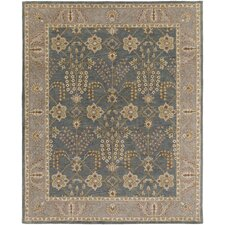 Middleton Kelly Hand-Crafted Slate/Beige Area Rug