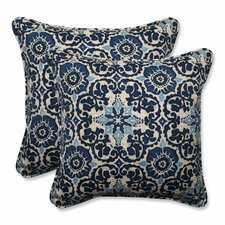 Woodblock Indoor/Outdoor Throw Pillow (Set of 2)