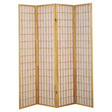 "Freese 70"" x 69.5"" Shoji 4 Panel Room Divider"