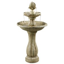 Resin/Natural Stone Lapham Solar Floor Fountain