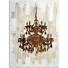 Antique Chandelier Reflection Painting on Canvas