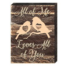 Love and Relations Love Birds Textual Art by aMonogram Art Unlimited
