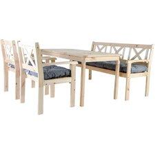 5-Sitzer Gartengarnitur Evje mit Polster