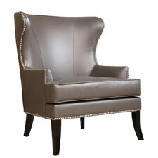Donlon Nailhead Trim Wing back Chair by Darby Home Co