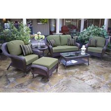 Carlock 6 Piece Deep Seating Group with Cushion by Darby Home Co®