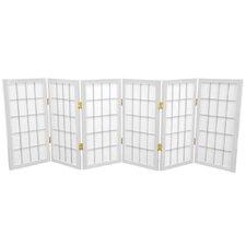 Noan 26 Window Tall Desktop Pane Shoji Room Divider by World Menagerie