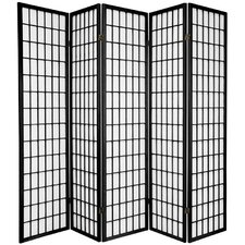 70 x 85 Tejas Shoji 5 Panel Room Divider by World Menagerie