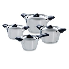 Classic 4-Piece Stainless Steel Cookware Set (Set of 4)
