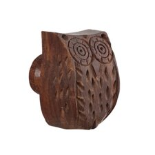 Wooden Owl Knob (Set of 4)