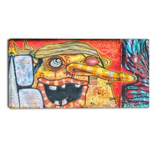 Funny Street Graffiti Graphic Art on Wrapped Canvas