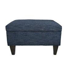 Brooklyn Upholstered Square Legged Box Storage Ottoman by MJL Furniture