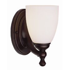 1-Light Wall Sconce with Opal Shade